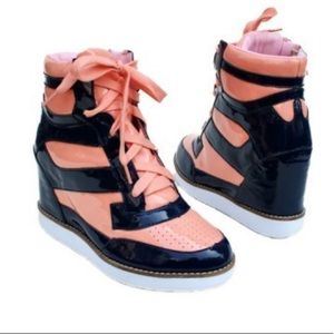 Jeffrey Campbell Wedge Napoles Sneakers Pink 8